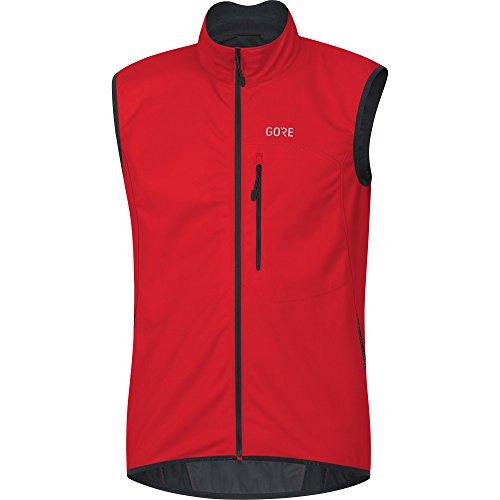 GORE Wear Herren Winddichte Fahrrad-Weste, GORE C3 GORE WINDSTOPPER Vest, Größe: S, Farbe: Rot, 100037