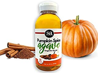 Soviia Organic Pumpkin Spice Agave Syrup (Estate Grown Low-Glycemic Vegan Non-GMO, Nectar Kosher Halal)