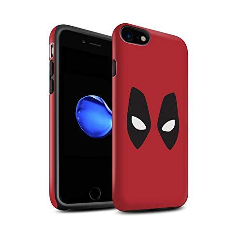 Matt Hülle Für Apple iPhone 8 Superheld Comic-Kunst Deadpool Maske Inspiriert Design Matte Stoßfest Bumper Hart Schutz Handyhülle Case