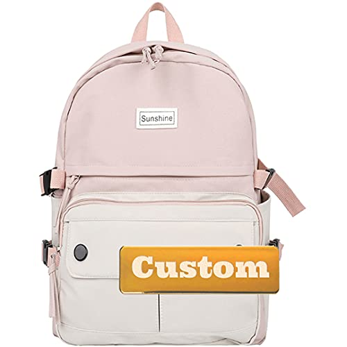 Nombre Personalizado Personalizado Senderismo Daypack Ultralight Lightweight Backpack Boy Senderismo Daypack Canvas (Color : Pink, Size : One Size)