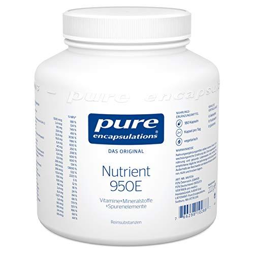 Pure Encapsulations - Nutrient 950E - Multivitaminpräparat mit aktivierten Vitaminen, Mineralstoffen und Spurenelementen - 180 vegetarische Kapseln