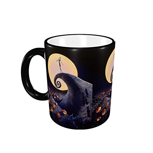 Ceramic Coffee Mug The Nightmare Before Christmas Custom with Gift Box for Cappuccino Latte Hot Cocoa Office Tea Cup Novelty 12 Oz