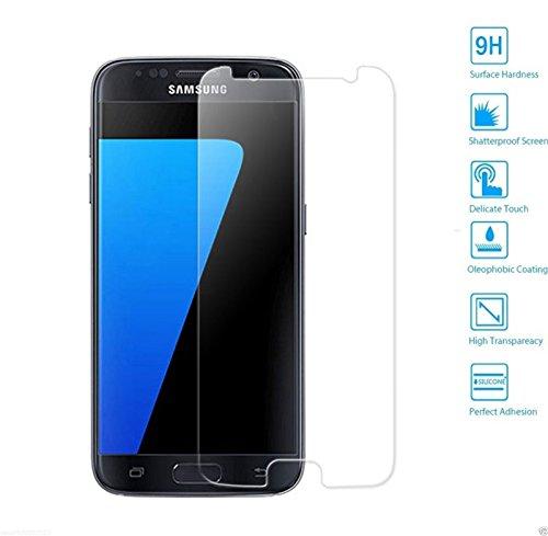 MUNDDY Protector de Pantalla para Samsung Galaxy S7 Cristal Vidrio Templado Premium,Espesor 0,30 mm, 2.5D Round Edge, [9H Dureza] [Alta Transparencia] [Sin Burbujas] (NO Cubre O Pega LOS Bordes)