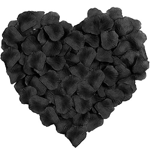Neo LOONS 1000 Pcs Artificial Silk Rose Petals Decoration Wedding Party Color Black