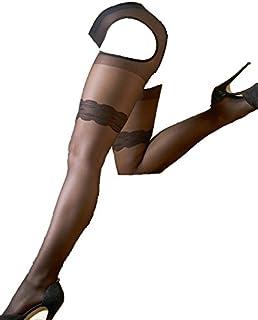 Cottelli Collection Cottelli Collection Stockings & Hosiery - Ouvert-Strumpfhose für sie, sexy Strumpfhose mit offenem Schritt und offenen Seiten, Strümpfe und Strapse in einem, schwarz