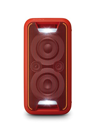 Sony GTKXB5R.CEL - Sistema de Audio (Extra Bass, Bluetooth, NFC, Party Chain, configuración Vertical y Horizontal con Luces), Rojo