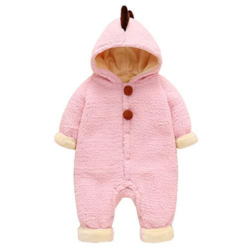puseky Neugeborene Baby Dinosaurier Overall Winter Warme Hoodie Strampler Outwear Kleidung für Jungen Mädchen