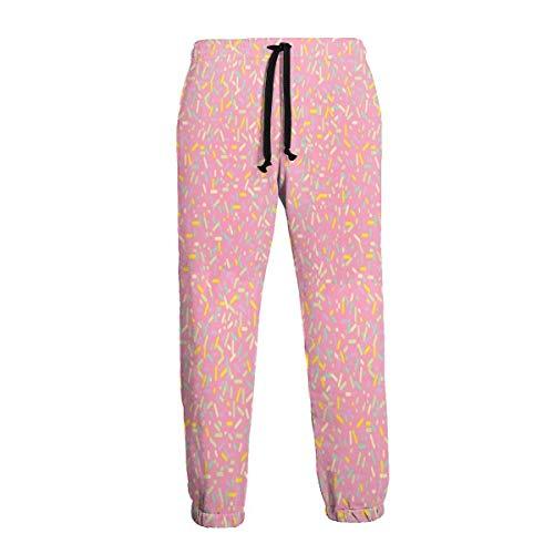 Strawberry Sprinkles Cupcake Herren Jogginghose Athletic Pant Hose Laufhose Sporthose 3XL