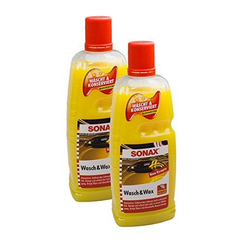 SONAX 2X 03133410 Wasch & Wax Lackpflege Konservierung 1L