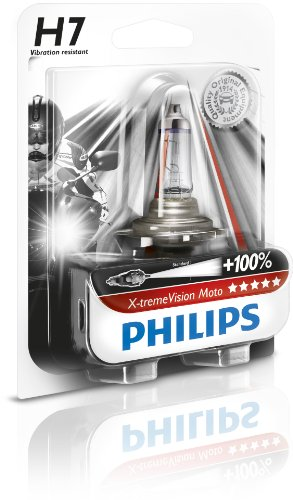Philips 12972XVBW X-treme Vision Moto H7 Motorrad-Scheinwerferlampe
