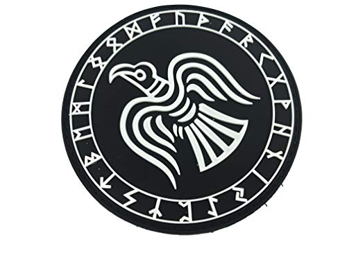Patch Nation Odin Rabe Rüstung Viking Wikingers PVC Airsoft Paintball Klett Emblem Abzeichen