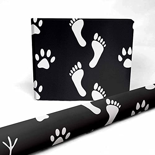 InterestPrint Set of Human and Animal Present Packing Paper 58 x 23 inch for Halloween Thanksgiving 1 Sheet