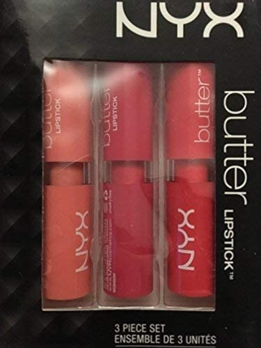 nyx cosmetics butter lipstick 3 piece set product image