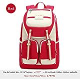 Girls Both Shoulders Backpack Girl Schoolbag Middle Junior School Student Backpacks For Children - Red