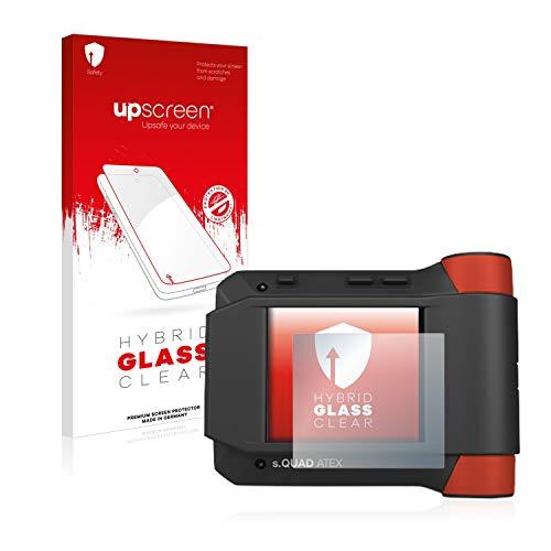 upscreen Hybrid Glass Panzerglas Schutzfolie kompatibel mit Swissphone s.Quad Atex 9H Panzerglas-Folie