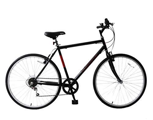 Ammaco. Professional Avenue 700c Mens Hybrid City Trekking Tourist Commuter Bike 21' Frame 6 Speed Black/Red