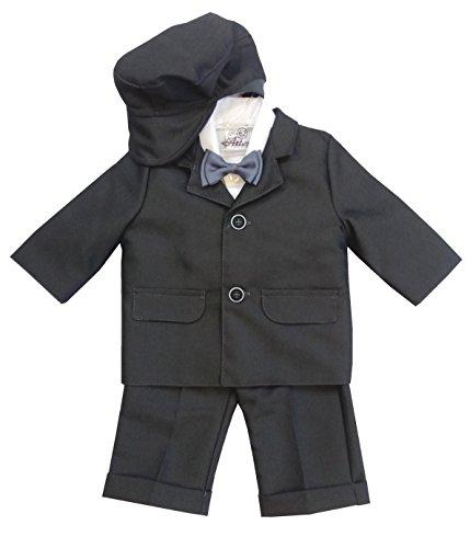 5tlg. hochwertiger Taufanzug/Babyanzug Anzug für Jungen mit 80% Baumwolle, 62