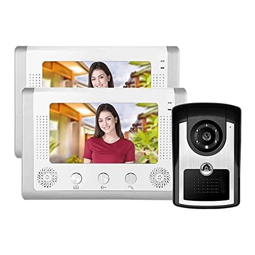 YQQQQ Videoportero, Sistema de Monitor de Intercomunicador de Entrada con Kit Intercomunicador HD de 7 Pulgadas con 12 Sonidos Acordes (Color : UK)