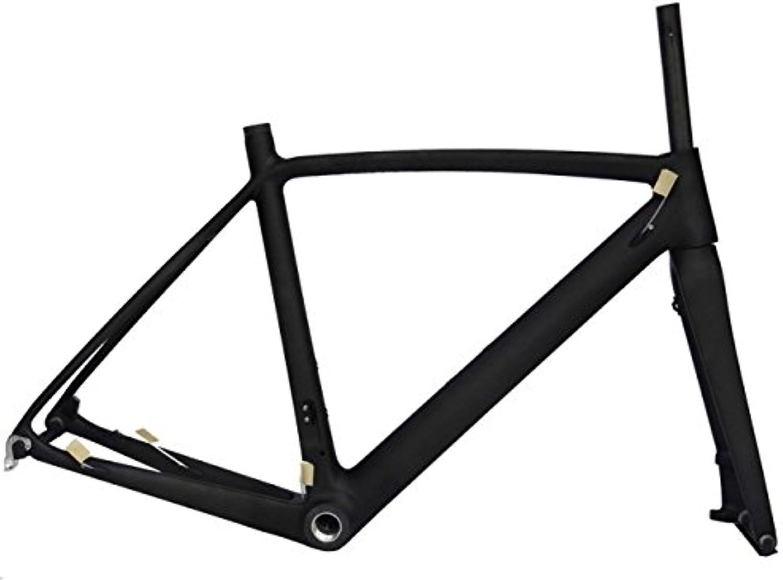 Full Carbon Matt Matt Disc Brake Road Bike Cycling BSA Frame Fork 52cm
