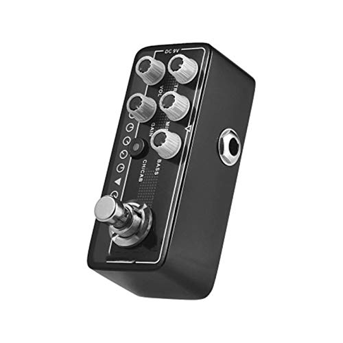 QinWenYan Guitar Effect Pedal Guitar Effect Pedal Transfers Guitar/Bass Signal Directly To Audio System Aluminum Alloy Body for Guitar (Color : Black, Size : 3.8 x 9.5 x 3.2cm)