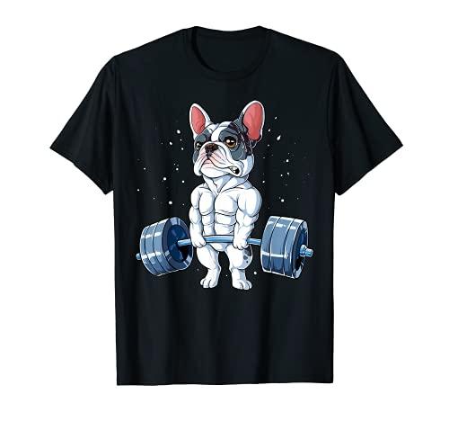French Bulldog Weightlifting Funny Deadlift Men Fitness Gym T-Shirt