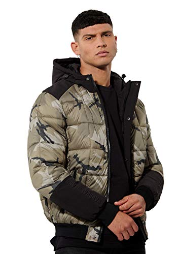 Kaporal - Doudoune régular Homme Camouflage - BIK - Homme - L - Vert