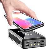 GAOXIAOMEI Solar Power Bank 100000Mah Chargeur De Secours Portable Powerbank, Batterie Externe Haute...