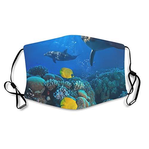 Caixiabeauty Ozean Delfin - Protector facial para peces con trabillas