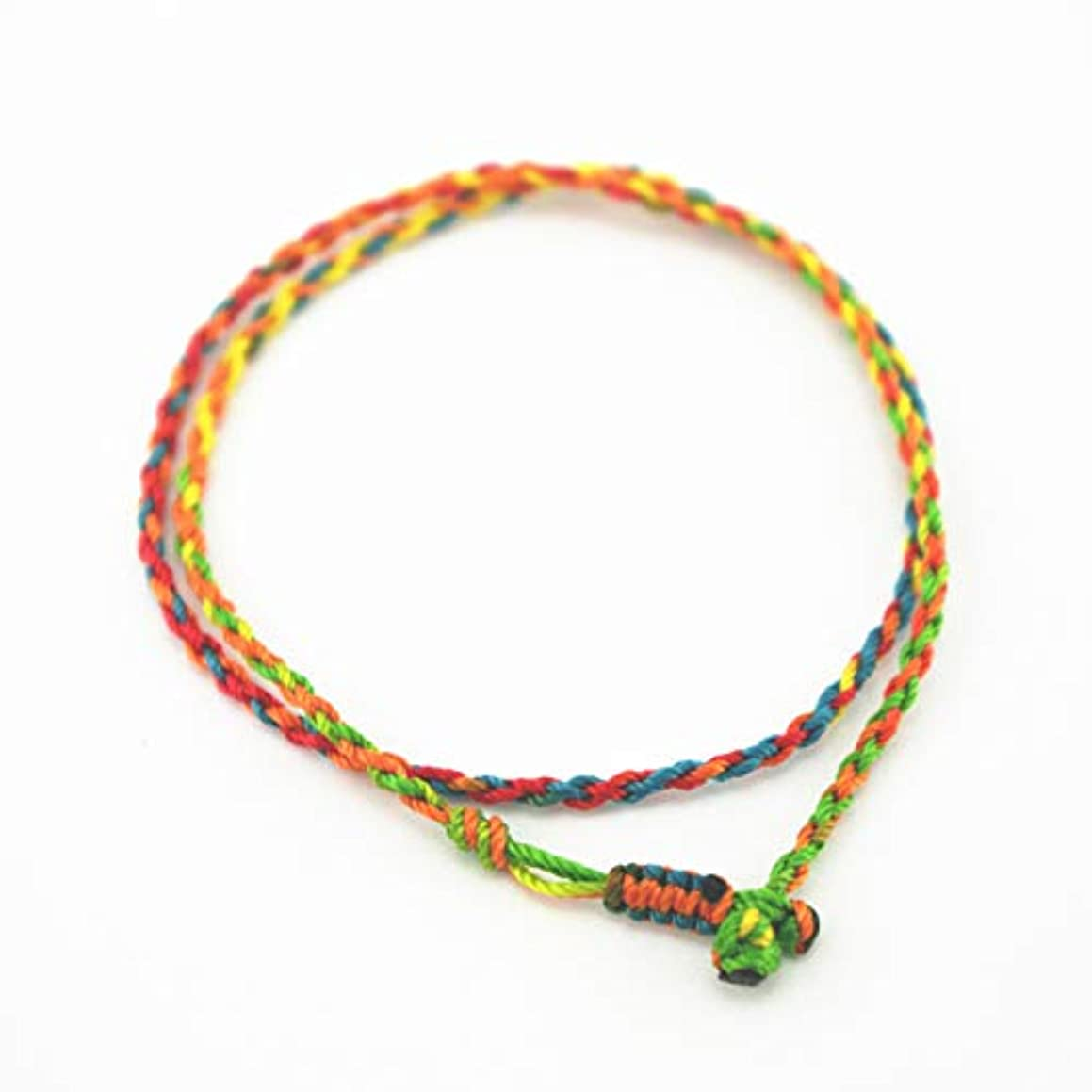 Glory Qin 2mm Hand Knitted Necklaces Colorful Rope DIY Rope Child Necklaces (16 Inches)