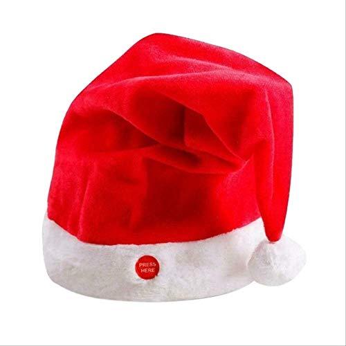 El Último Sombrero De Navidad Sombrero De Navidad Eléctrico Led Sombrero De Columpio para Cantar Sombrero De Santa Fiesta De Música Diversión Y Alegre Ambiente Hermoso Rojo