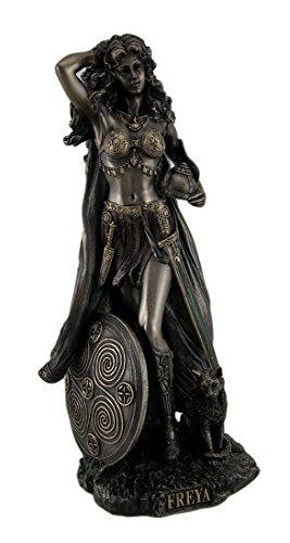 Norse diosa Freya Estatua acabado en bronce envejecido