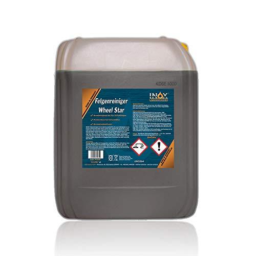 INOX® Felgenreiniger Konzentrat, 5L - Reiniger für Alufelgen und Stahlfelgen entfernt starke Verschmutzungen wie Flugrost und Bremsstaub