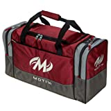 Motiv Shock Double Deluxe Tote Bowling Bag- Red