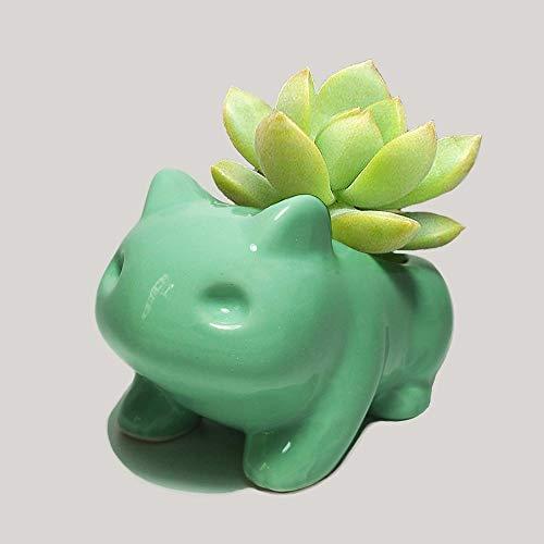 Rishx Pokemon Tiesto Planter Bonsai Escritorio decoración florero de cerámica del Ministerio del Interior la decoración del jardín Animado Bulbasaur suculento de Tiesto
