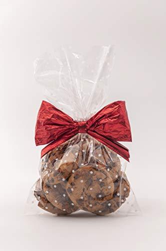 Italpak Buste, Sacchetti Trasparenti per Alimenti Pois, Bianco, 50 Pezzi, 15x25cm, Bustine Biscotti, Dolci, Regali, Polipropilene