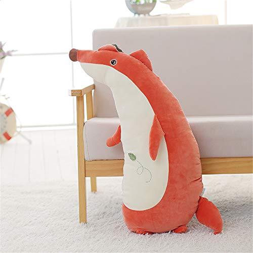 EXQUILEG Kuschelkissen Plüsch Marionette Puppe Dekorieren Tiere Für Schlafkissen Spielzeug Doll Pillow (Fuchs,50cm)