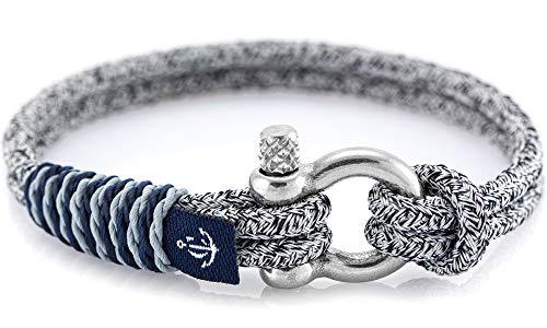 Constantin Nautics Handmade Nautical Slim Bracelets of Nautical Sailing Rope- Large Variety with Stainless Steel Screw Barrel Clasps - Gift Idea for Men & Women