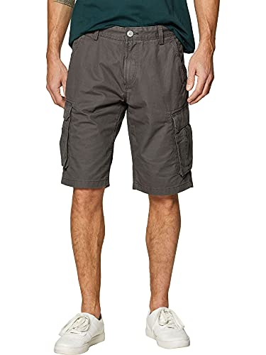 ESPRIT Herren 999EE2C802 Shorts, Grau (Dark Grey 020), 36 W