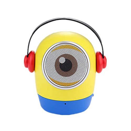 ZUEN Cartoon Kleiner gelber Mann Puppe Bluetooth Lautsprecher Multifunktions Kinder Geschenk Kleiner Lautsprecher,A
