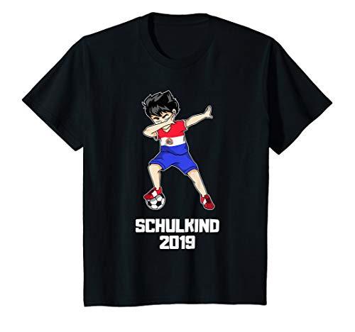 Kinder Schulkind 2019 Fußball Dabbing Fußballer Paraguay Trikot T-Shirt
