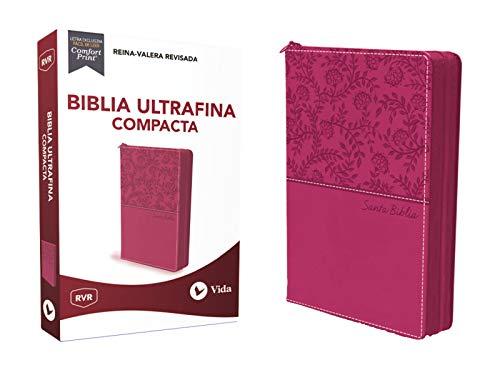 Rvr Santa Biblia Ultrafina Compacta, Leathersoft Con Cierre