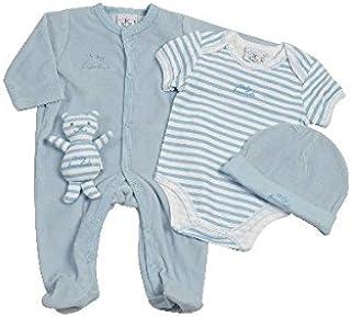 81ab739e036a7 KING BEAR Set 4 pièces avec pyjama et bonnet en velours + body et peluche