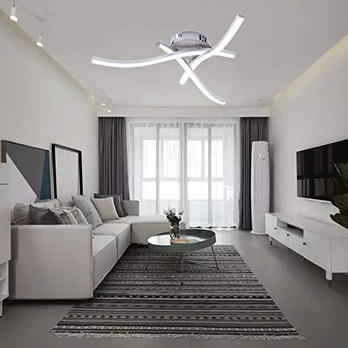 Lámpara De Techo Con 3 Placas De Luz Led, Luz De Techo Led Moderna, Lámpara De Techo Trifurcada, Lámparas Colgantes Para Interiores, Blanco Frío