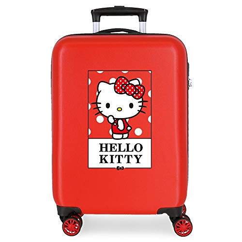 Hello Kitty Bow Maleta de Cabina Rojo 38x55x20 cms Rígida ABS Cierre...