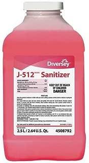 J-512 Sanitizer, 2.5 L, Quaternary, PK2