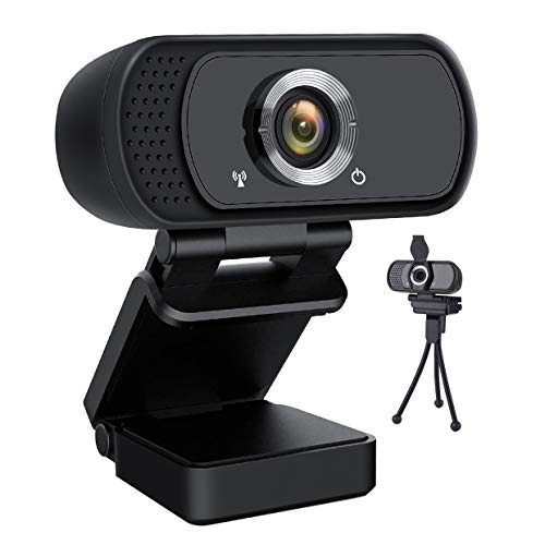 HD Webcam 1080P,Lasllaves USB Webcam Plug and Play Web Cam for Live Streaming,Web Camera for Computer PC Laptop Desktop,110 Degree Wide Angle Webcam with Microphone for Video Calling Recording Gaming