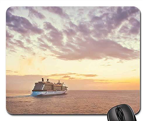 25X30cm Maus Matte Mauspad - Kreuzfahrtschiff Sonnenuntergang Reise Meer Urlaub Ozean Himmel