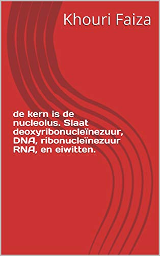 de kern is de nucleolus. Slaat deoxyribonucleïnezuur, DNA, ribonucleïnezuur RNA, en eiwitten.