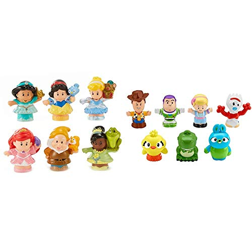 Fisher-Price Little People Disney Princess Gift Set (6 Pack) [Amazon Exclusive] & Disney Toy Story 4, 7 Friends Pack by...
