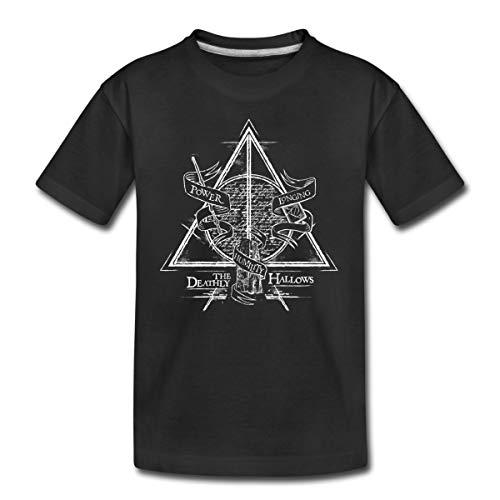 Harry Potter The Deathly Hallows Teenager Premium T-Shirt, 158-164, Schwarz